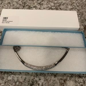 Touchstone Crystal White Collar Necklace